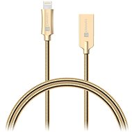 CONNECT IT Wirez Steel Knight Lightning Apple 1m, metallic gold - Adatkábel