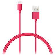 CONNECT IT Colorz Lightning Apple 1 m rózsaszín - Adatkábel
