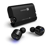 CONNECT IT True Wireless HYPER-BASS, fekete - Mikrofonos fej-/fülhallgató