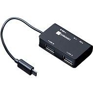 CONNECT IT Hub és olvasó OTG, USB + Micro USB - Kártyaolvasó