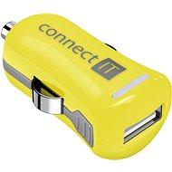 CONNECT IT InCarz Charger ONE 2.1A sárga (V2) - Autós töltő