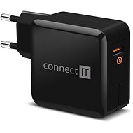 CONNECT IT InWallz QUALCOMM QUICK CHARGE 3.0 fekete - Töltő