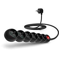 CONNECT IT hosszabbító 230 V, 6 aljzat + kapcsoló, 3 méteres, fekete színű