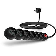 Hosszabbító kábel CONNECT IT hosszabbító 230 V, 6 aljzat + kapcsoló, 5 méteres, fekete színű - Prodlužovací kabel