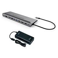I-TEC USB-C Metal Low Profile 4K Triple Display dokkoló állomás 85 W Power Delivery-vel + I-TEC unive - Dokkoló állomás