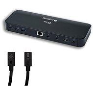 I-TEC Thunderbolt 3 Dual 4K dokkoló állomás + USB-C-DP adapter 1,5 m kábellel, Power Delivery 8 - Dokkoló állomás