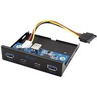 """I-TEC 3,5""""-es USB-C / USB 3.0 előlap PC-be - Előlap"""