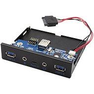 """I-TEC USB-C / USB 3.0 / Audio 3,5"""" előlap PC-hez - Előlap"""