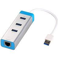 I-TEC USB 3.0 HUB Metal Gigabit Ethernet adapterrel - USB Hub