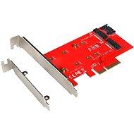 I-TEC PCI-E 2x M.2 Card (PCI-E/SATA) - Bővítőkártya