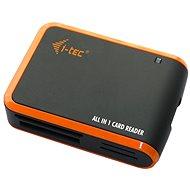 i-TEC USB 2.0 All-in One reader, fekete-narancssárga - Kártyaolvasó