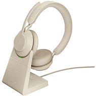 Jabra Evolve2 65 MS Stereo USB-A Stand Beige - Vezeték nélküli fül-/fejhallgató