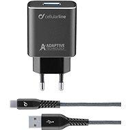 Cellularline Tetra Force USB-C 15W, fekete - Töltő