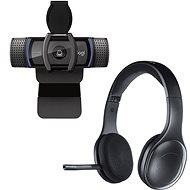 Logitech C920s HD Pro + Wireless Headset H800 - Webkamera
