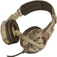 Trust GXT 310D Radius Gaming Headset, sivatagi terepmintás - Gamer fejhallgató