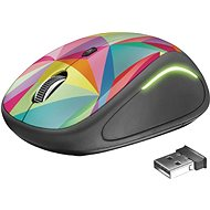 Trust Yvi FX Wireless Mouse geometrikus - Egér