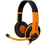 Defender Warhead G-120 fekete/narancssárga - Gamer fejhallgató