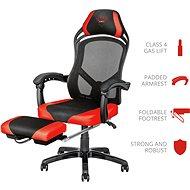 Trust GXT 706 Rona - piros - Gamer szék