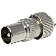 OEM Antenna csatlakozó 75 Ohm PAL(M), IEC169-2, csavaros, fém - Csatlakozó