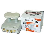 LNB Mascom Monoblock Quad MCM4QS01HD Gold 4.3° - Konvektor