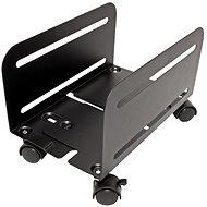 OEM PC tartó, 119-209 mm széles, fém, kerekek, fekete