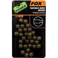 FOX Edges Tapered Bore Beads 4 mm Trans Khaki 30db - Gyöngy