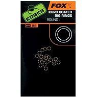 FOX Edges Kuro Coated Rig Rings, s=2,5mm, 25 db gyűrű - Gyűrű