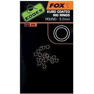 FOX Edges Kuro Coated Rig Rings M méret 3,2mm 25 db - Gyűrű