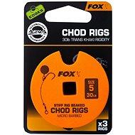 FOX Standard Chod Rigs Barbed méret 5 30 lb 3 db - Szerelék