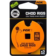 FOX Standard Chod Rigs Barbless méret 8 25 lb 3 db - Szerelék