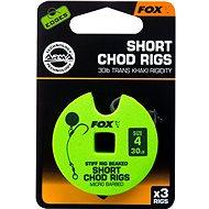 FOX Short Chod Rigs Barbed méret: 4 30 lb 3 db - Szerelék
