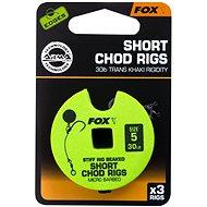 FOX Short Chod Rigs Barbed méret: 5 30 lb 3 db - Szerelék