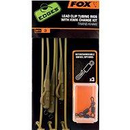 FOX vezetősín csővezetékek + Kwik változó készlet Trans Khaki 3db - Végszerelék