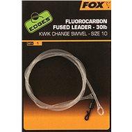 FOX Fluorocarbon Fused Leader 30lb + Kwik Change Swivel Méret 10 - Szerelék