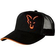 FOX Black & Orange Trucker Cap - Baseball sapka