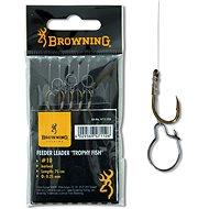 Browning Feeder Trophy Fish Hook-to-Nylon, méret: 10 0,25 mm 12 lbs/5,6 kg 75 cm 6 db - Szerelék