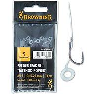 Browning Feeder Leader Method Power Pellet Band, méret:  10 0,25 mm 12 lbs/5 kg 10 cm 6 db - Szerelék