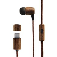 Energy Sistem Earphones Eco Walnut Wood - Fej-/fülhallgató