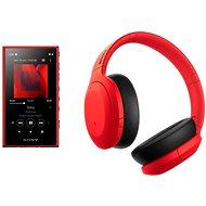 Sony MP4 16GB NW-A105L piros + Sony Hi-Res WH-H910N piros-fekete - Szett