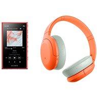 Sony MP4 16 GB NW-A105L narancs + Sony Hi-Res WH-H910N narancs-szürke - Szett