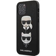 Karl Lagerfeld Saffiano K&C Heads Apple iPhone 12/12 Pro-Black - Mobiltelefon hátlap