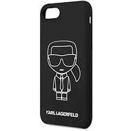 Karl Lagerfeld Iconic iPhone 8 / SE 2020 készülékhez fekete - Mobiltelefon hátlap