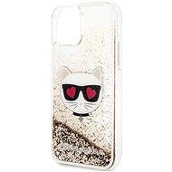 Karl Lagerfeld Heads Glitter az iPhone 11-hez arany - Mobiltelefon hátlap
