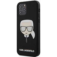 Karl Lagerfeld Glitter Head - Apple iPhone 12/12 Pro, Black - Mobiltelefon hátlap