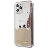 Karl Lagerfeld Liquid Glitter Peek a Boo - Apple iPhone 12/12 Pro, Pink - Mobiltelefon hátlap