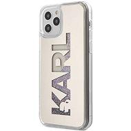 Karl Lagerfeld Liquid Glitter Mirror - Apple iPhone 12/12 Pro, Silver - Mobiltelefon hátlap