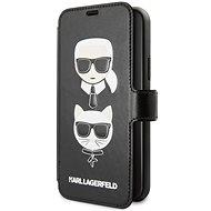 Karl Lagerfeld Cardslots Book tok iPhone 11 készülékhez, fekete - Mobiltelefon tok