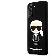 Karl Lagerfeld Iconic Full Body szilikon tok Samsung Galaxy S21  készülékhez fekete