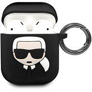 Karl Lagerfeld Black Szilikon tok Airpod fülhallgatóhoz - Fülhallgató tok
