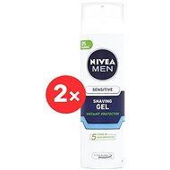 NIVEA Men Sensitive borotválkozó gél 2 × 200 ml - Borotválkozó gél